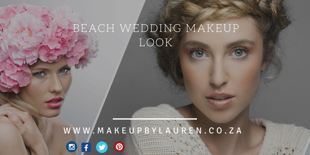Beach wedding makeup look and beach venues Cape Town